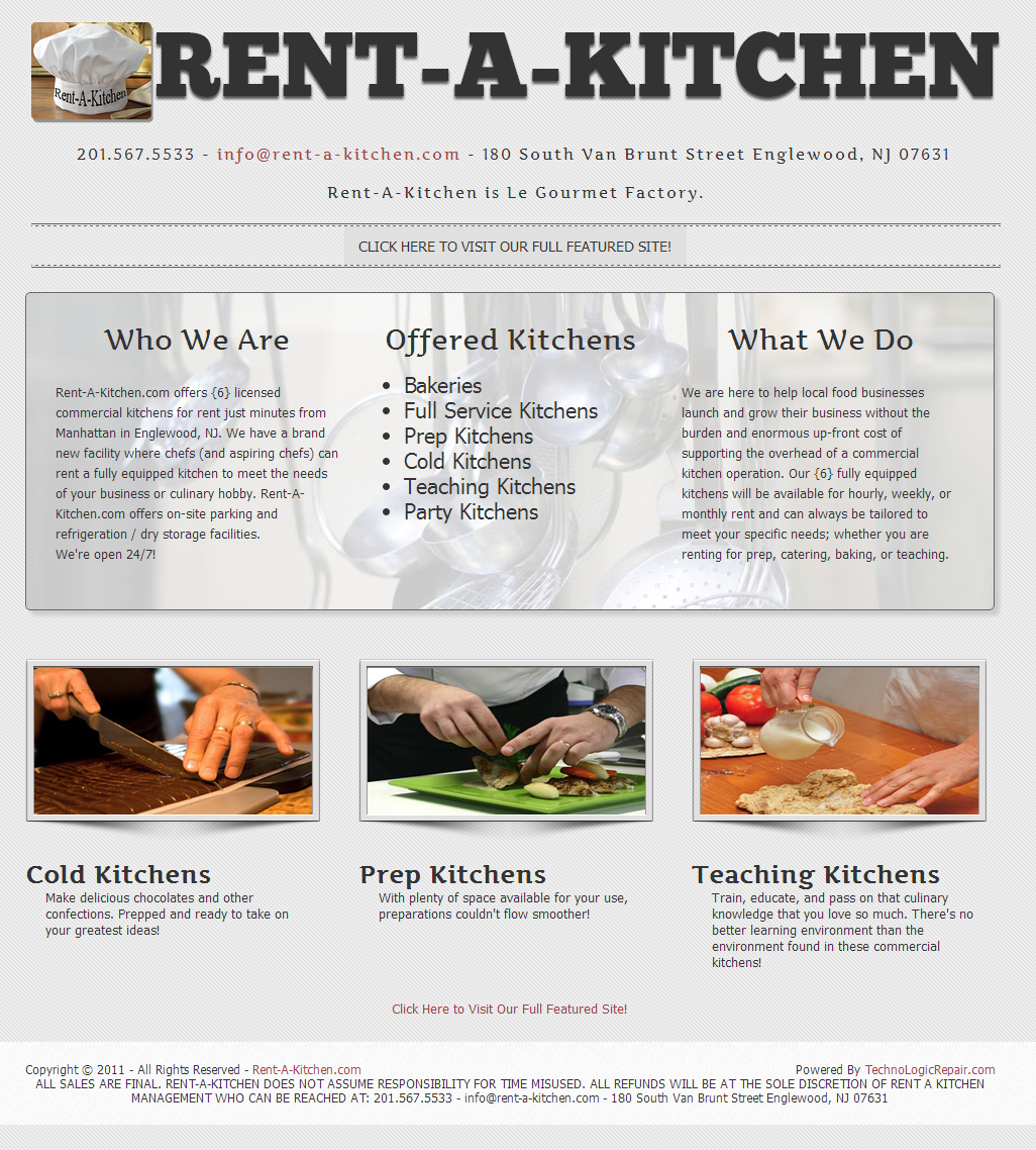 Rent-A-Kitchen.com - TLR Striking Web Solutions